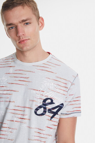 Jacquard and number 84 T-shirt