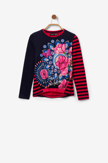 Print T-shirt with sequins and glitter | Desigual