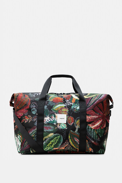 Nylon print bag with cosmetics kit