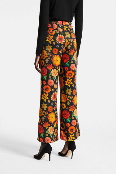 Flared floral trousers | Desigual