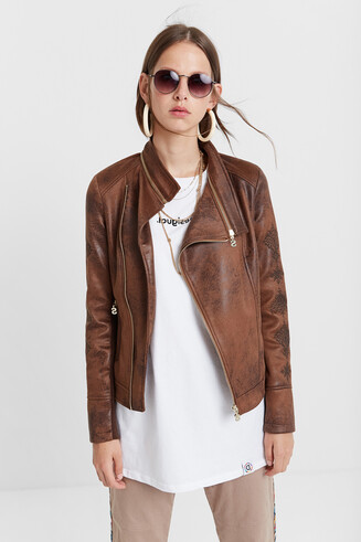 Brown Biker Jacket