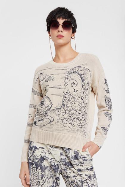 Sailor print jumper