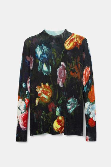 Pull maille fleurs | Desigual