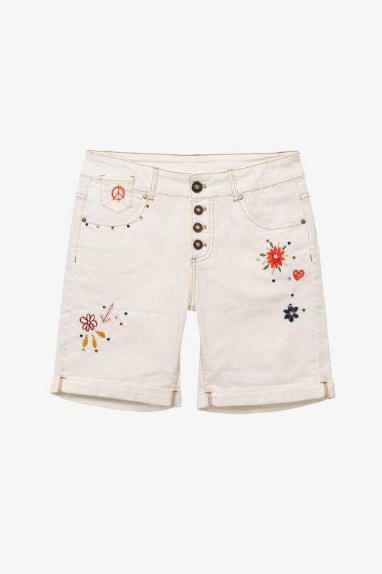 Embroidered Bermuda shorts   Desigual
