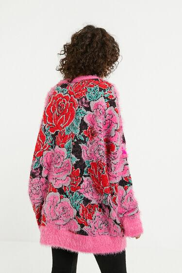 Pull en maille floral oversize | Desigual