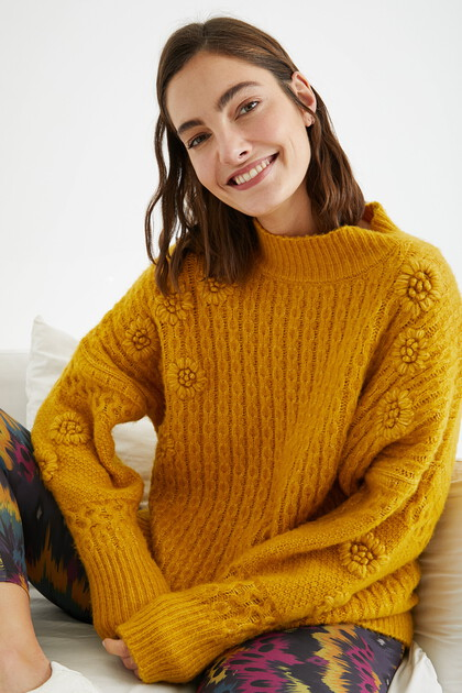 Braided tricot jumper
