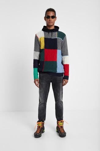 Maglia in tricot intrecciato