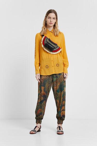 Long floral cargo trousers | Desigual