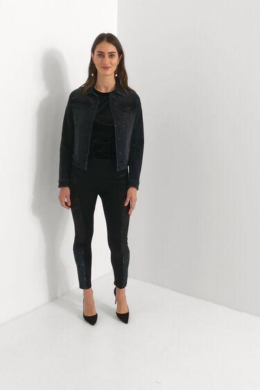 Slim animal print trousers | Desigual