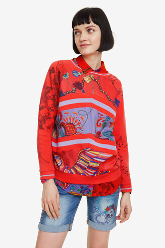Patchwork sweatshirt Craft