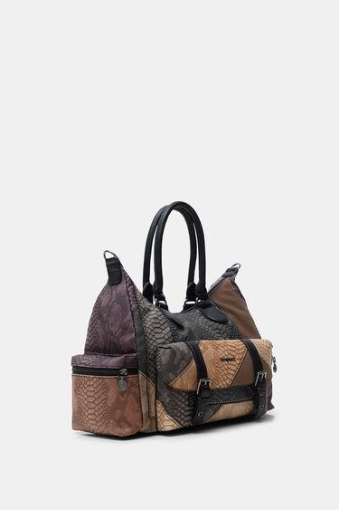 Patchwork briefcase bag | Desigual