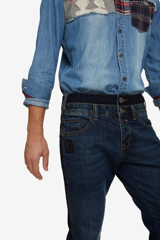 Pantalons denim rectes doble cintura   Desigual