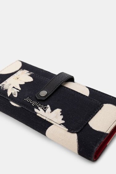 Linen rectangular wallet | Desigual