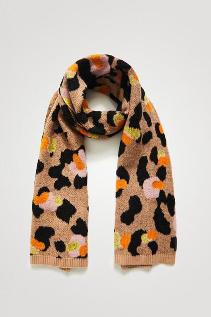 Langer Schal Animal Print