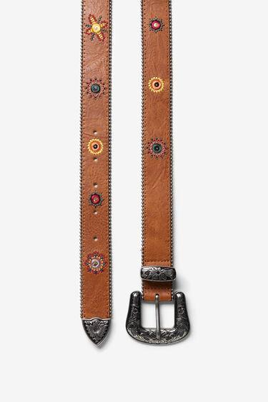 Floral engraved belt | Desigual