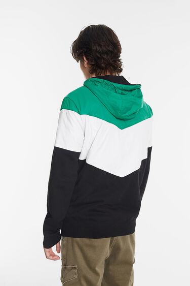 Tricolour sweatshirt jacket | Desigual