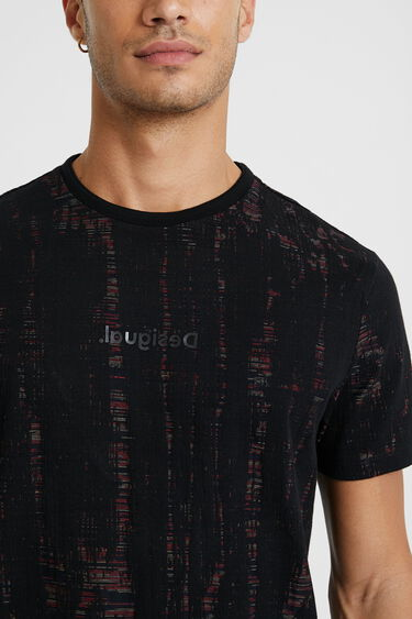"T-Shirt mit ""zerfetztem"" Jacquard | Desigual"