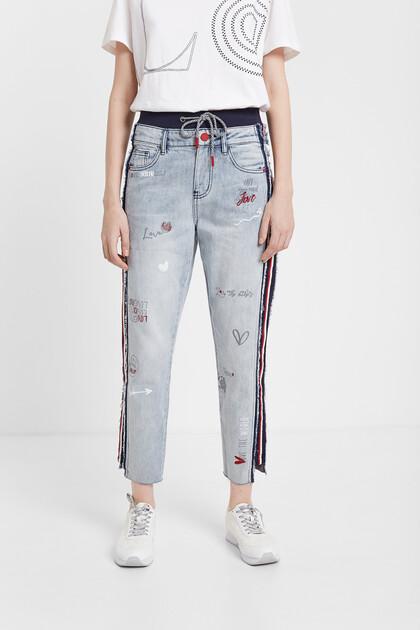 Pantalon en jean jogger hybride