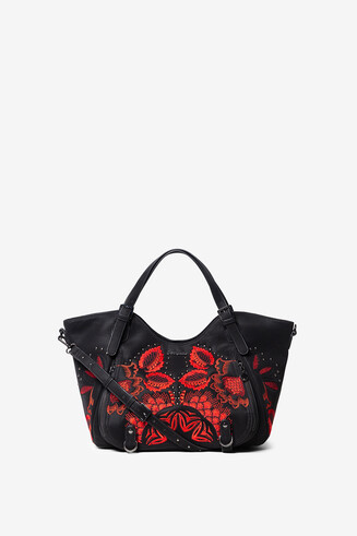 Bag floral embroideries