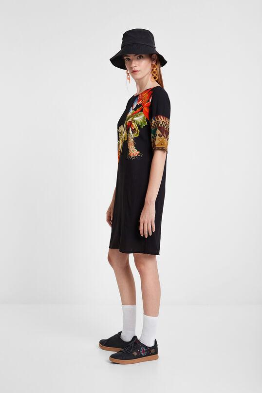 Vestit de viscosa amb mànigues 3/4 Designed by M. Christian Lacroix   Desigual