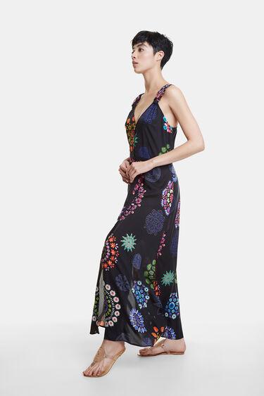 Long beach dress with mandalas | Desigual