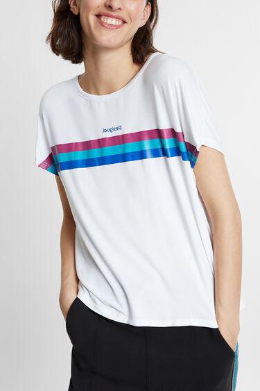 T-shirt riscas lurex horizontais | Desigual