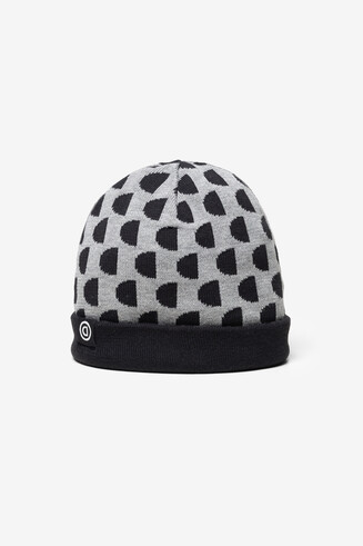 Gorro reversible monogram