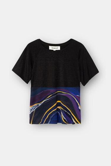 T-shirt de desporto em cupro estampado de mármore | Desigual