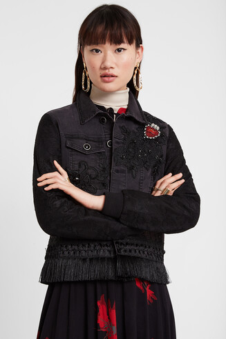 Jean jacket heart