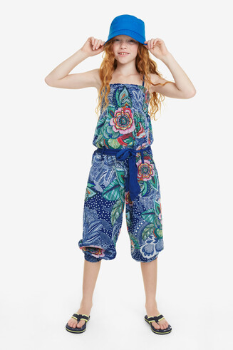 Long Print Jumpsuit Mallard