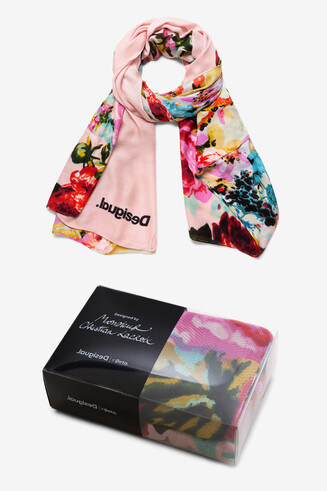 Viscose rectangular scarf Designed by M. Christian Lacroix