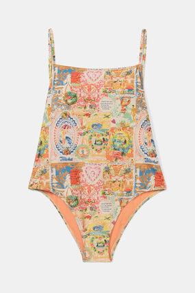Swimsuit back Lurex straps