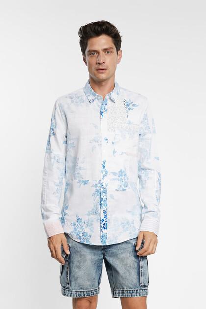 Camisa 100% algodão com paisley