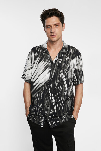 Chemise manches courtes tropicale