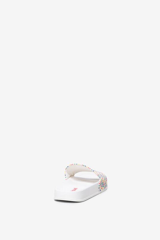 White flip-flops Logomania | Desigual
