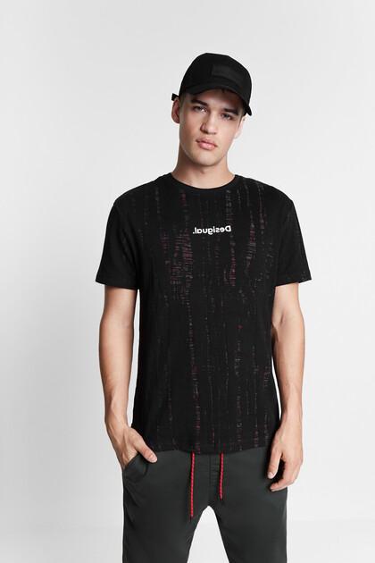 デヴォレ加工 ジャカードTシャツ