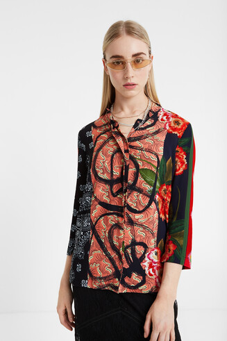 Oriental boho shirt