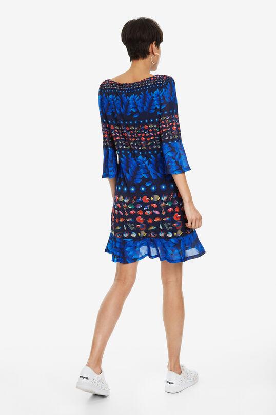 Bell-Sleeve Dress Calesi   Desigual