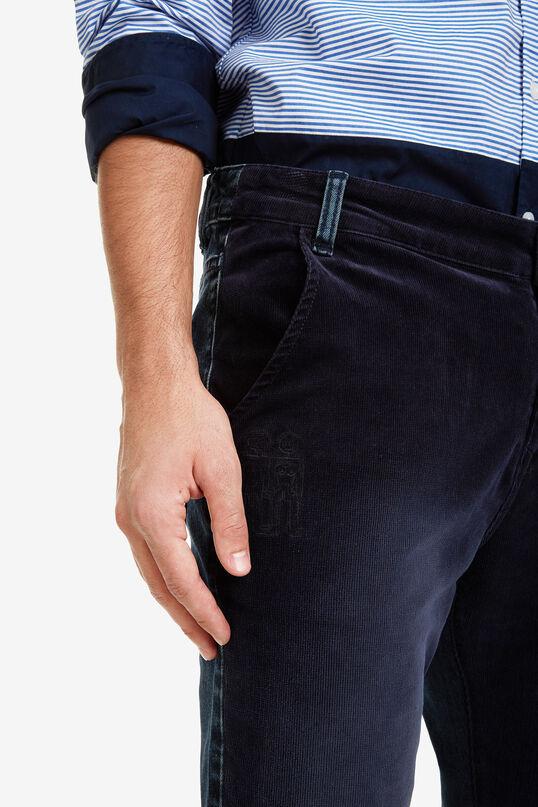 Wycięte dżinsowe spodnie z dwóch rodzajów materiału | Desigual