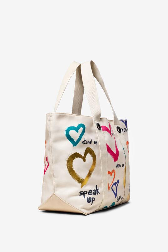 White Bag with Hearts Medina   Desigual