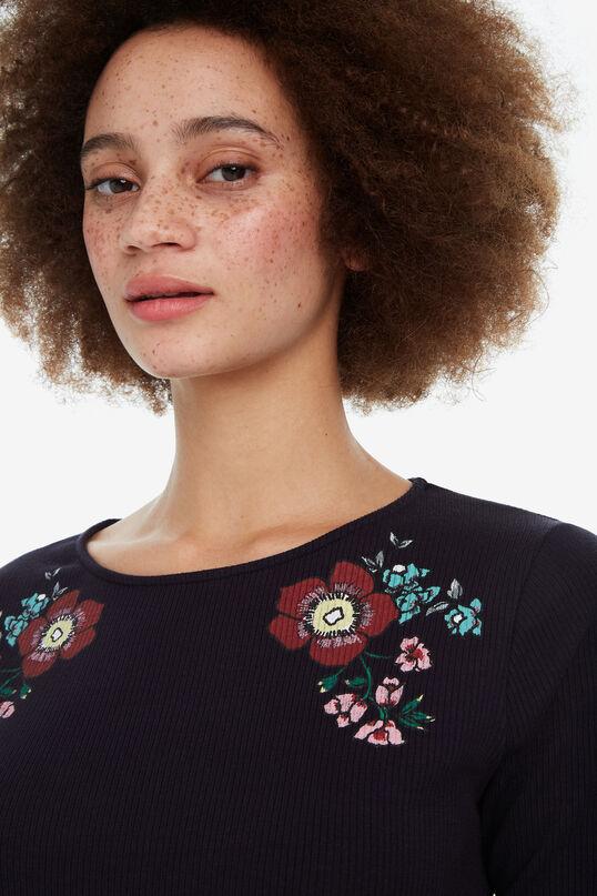 Streifenshirt mit Blumen Secret Garden | Desigual