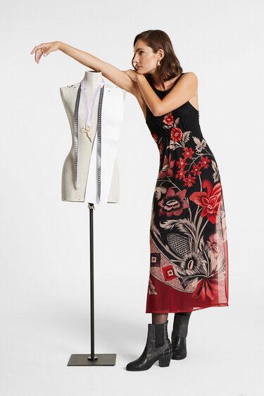 Ärmelloses Kleid mit Rückenausschnit | Desigual