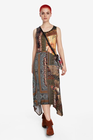 Long dress peaks skirt