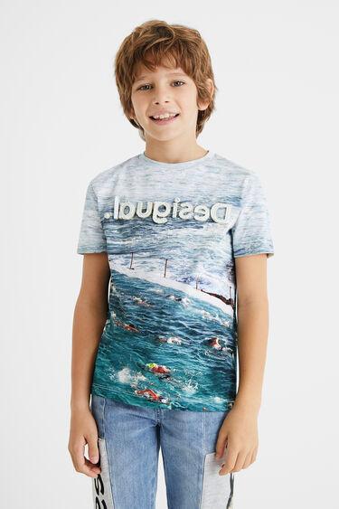 100% katoenen T-shirt met zwembad | Desigual