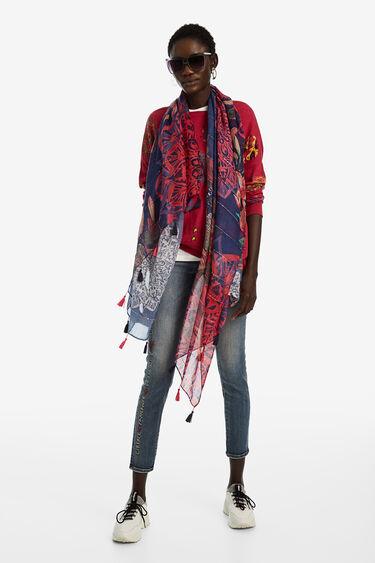 Fulard rectangular floral galàctic | Desigual