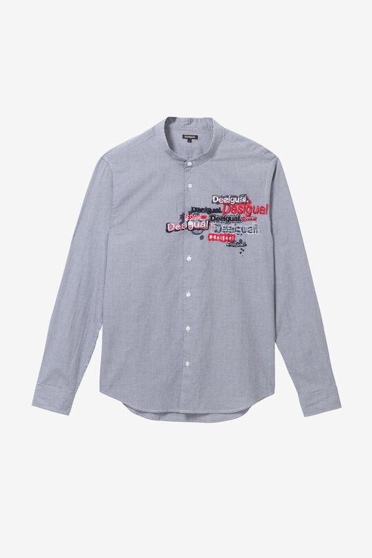Mandarin collar embroidered shirt   Desigual