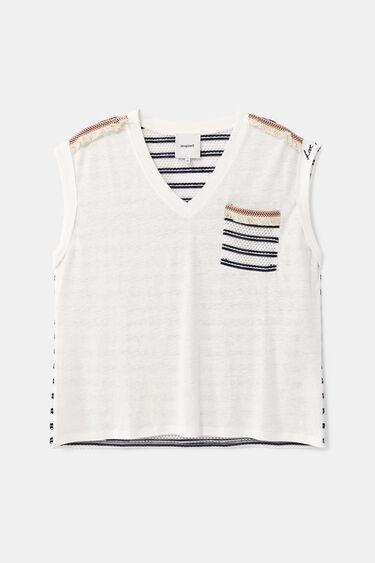 Maritiem gestanst T-shirt | Desigual