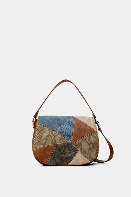 Little sling bag embossed leather effect