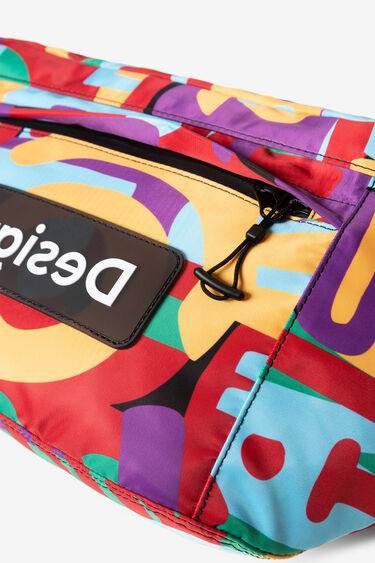 Maxi-Gürteltasche mit buntem Camouflage-Print | Desigual