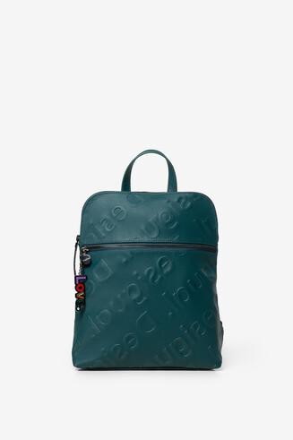 Embossed logomania backpack